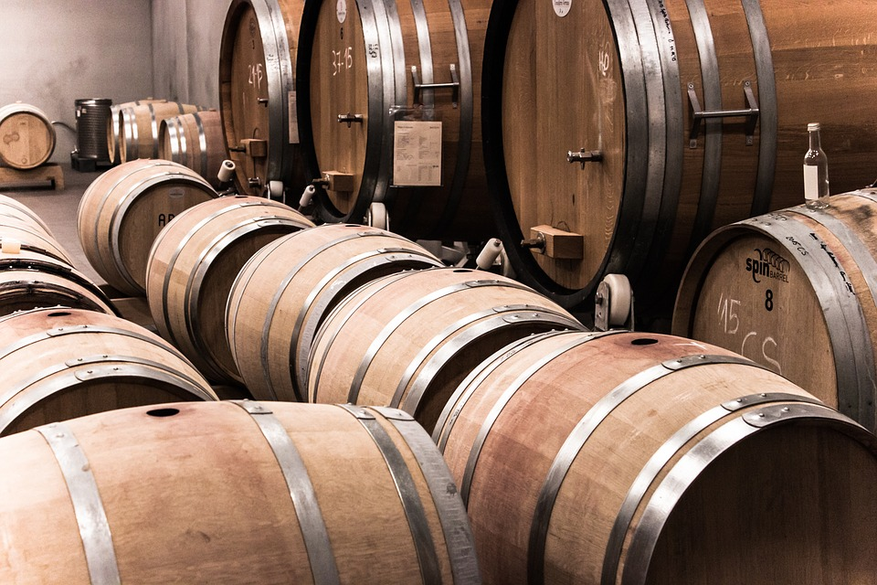 botti di vino Chablis