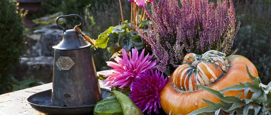 come arredare il portico in autunno